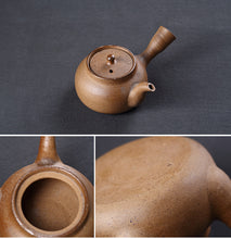 "Load image into Gallery viewer, Chaozhou Pottery ""Yong Fu"" Water Boiling Kettle, Medical Stone, around 600ml"
