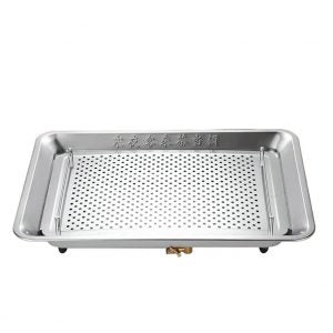 Rectangle Stainless Steel Tea Tray with Water Tank and Water Outlet 3 Variations