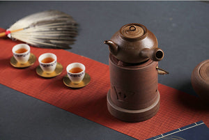 "ChaoZhou Pottery ""Xiang Hu"" 590ml Water Boiling Kettle, ""Ti Liang"" Alcohol Lamp / Charcoal Stove"