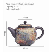 "Load image into Gallery viewer, ""Yan Kuang"" (Rock Ore) Teapot 200CC, Fully Handmade"