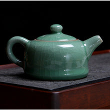"Load image into Gallery viewer, LongQuan Celadon Tea Pot for Chinese Gongfu Tea 4 Variations ""Ge Kiln"" - King Tea Mall"