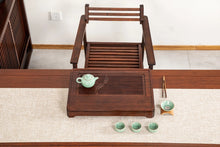 "Load image into Gallery viewer, Bamboo Tea Tray ""Shuang Yu"" ( Twin Fishes) / Board / Saucer with Water Tank Two"