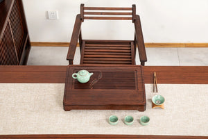 "Bamboo Tea Tray ""Shuang Yu"" ( Twin Fishes) / Board / Saucer with Water Tank Two"