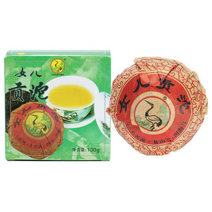 "2009 XiaGuan ""Nv Er Gong Tuo"" (Girl's Tribute Tea) 100g Puerh Sheng Cha Raw Tea"
