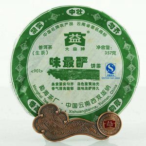 "2009 DaYi ""Wei Zui Yan"" (the Strongest Flavor) Cake 357g Puerh Sheng Cha Raw Tea - King Tea Mall"