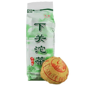 "2016 XiaGuan ""Lv Yan Yuan"" (Green) 100g*5pcs Puerh Raw Tea Sheng Cha - King Tea Mall"