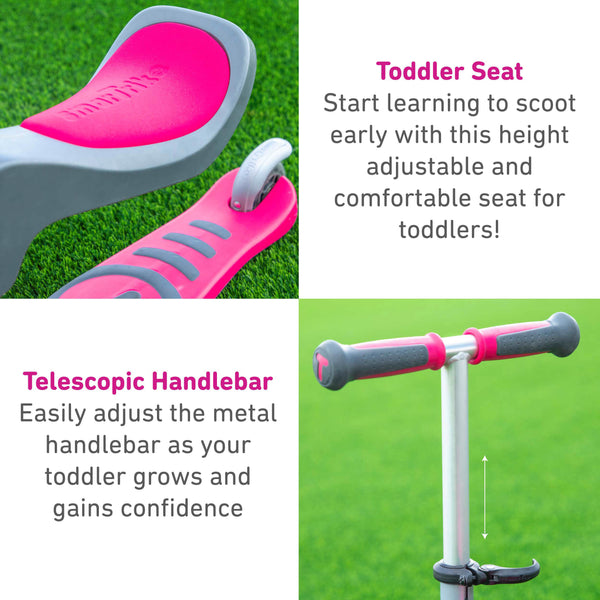 smartrike T1 pink scooter product features pt2
