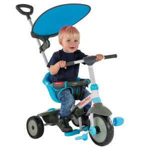 buy smartrike fisher price charm plus blue baby tricycle with baby boy riding