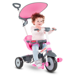 smartrike fisher price charm plus pink baby tricycle with baby girl riding