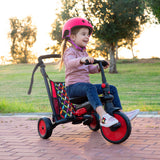 smartrike STR3 red folding tricycle toddler girl riding