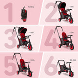 smartrike STR3 red folding tricycle six growth stages
