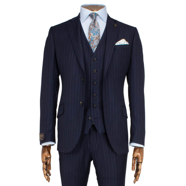 Vitale Barberis Canonico Navy Striped 2-Piece Suit