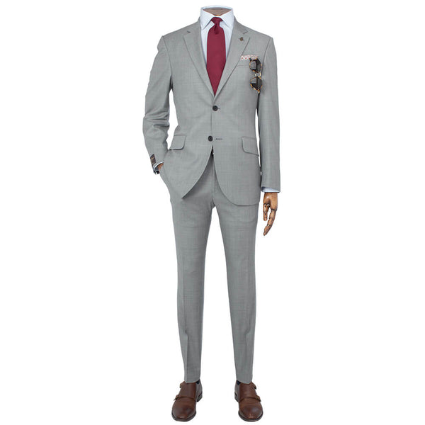 Vitale Barberis Canonico Light Taupe Whip Cord Melange Suit