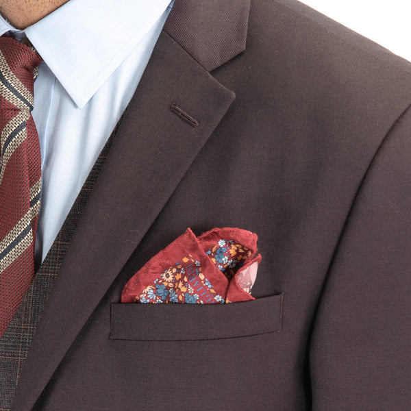 Burgundy Twill Suit