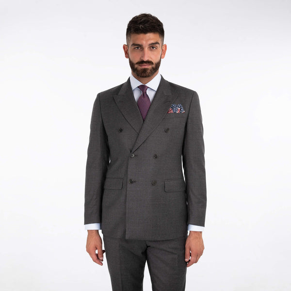 Lanificio F. Lli Cerruti Grey Twill Cashmere Blend Suit