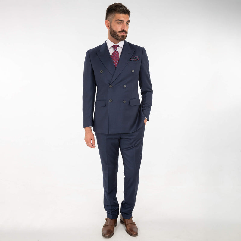 Lanificio F. Lli Cerruti Navy Cashmere Blend Double Breasted Suit