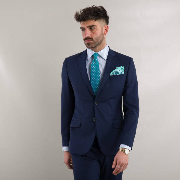 Lanificio Ing. Loro Piana Blue Basketweave Suit