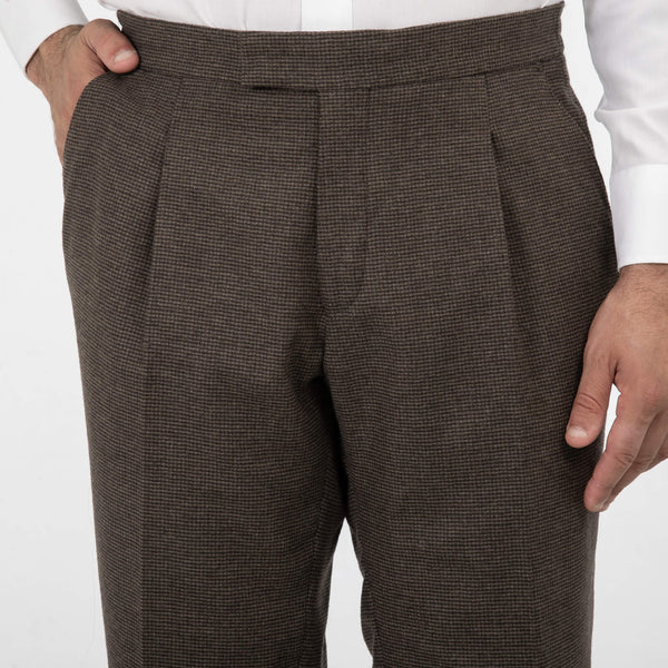 Mid Brown Pupytooth Trousers