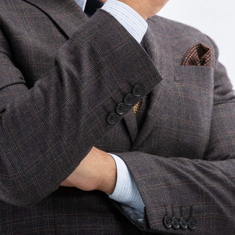 Grey And Brown Glen Check Suit