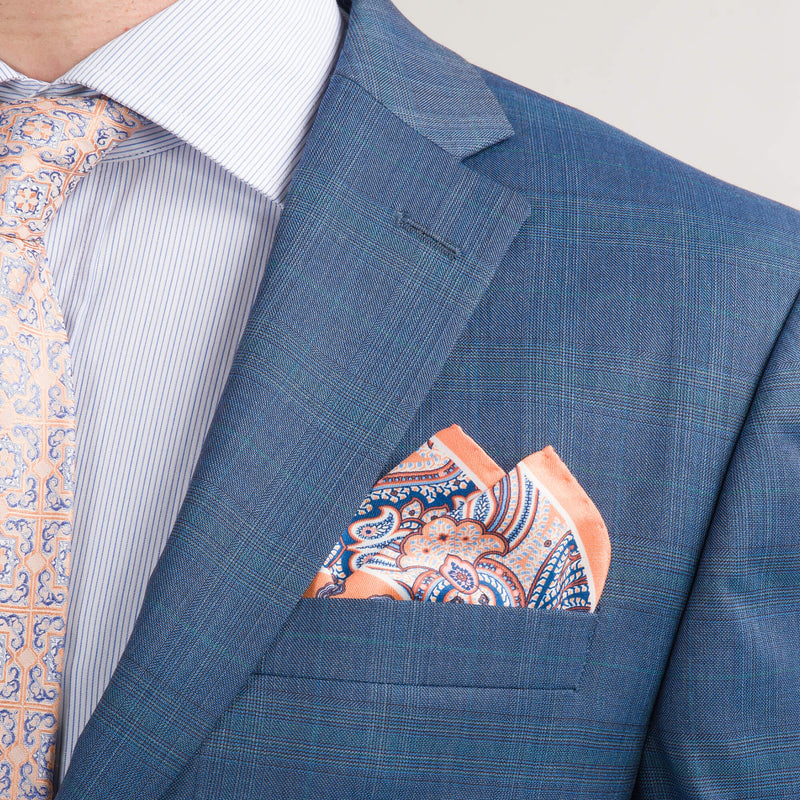 Blue and Teal Check Lanificio F.lli Cerruti Suit