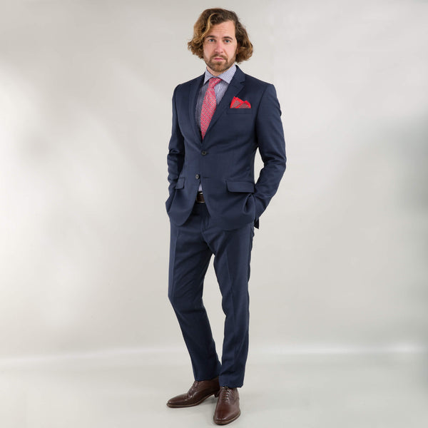 Cloth Ermenegildo Zegna Navy Tonal Check Suit