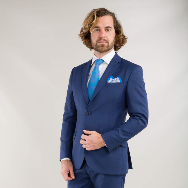 Vitale Barberis Canonico Napoli Blue Tonal Check Suit