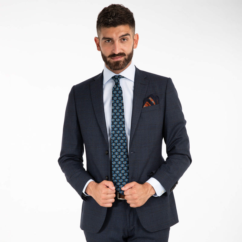 Lanificio Ing. Loro Piana Blue Glen Check Suit