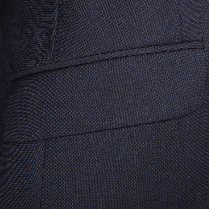 Lanificio F.lli Cerruti Navy Basketweave Two-Piece Suit - Gagliardi