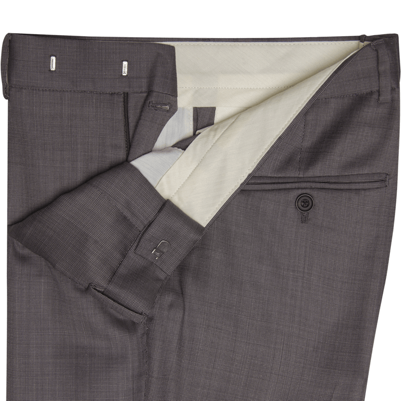 Lanificio F.lli Cerruti Mid Brown Dash Weave Two-Piece Suit
