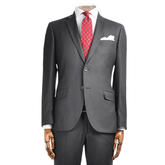 Lanificio F.lli Cerruti Charcoal Grey Micro Basketweave Cashmere Blend Two-Piece Suit - Gagliardi