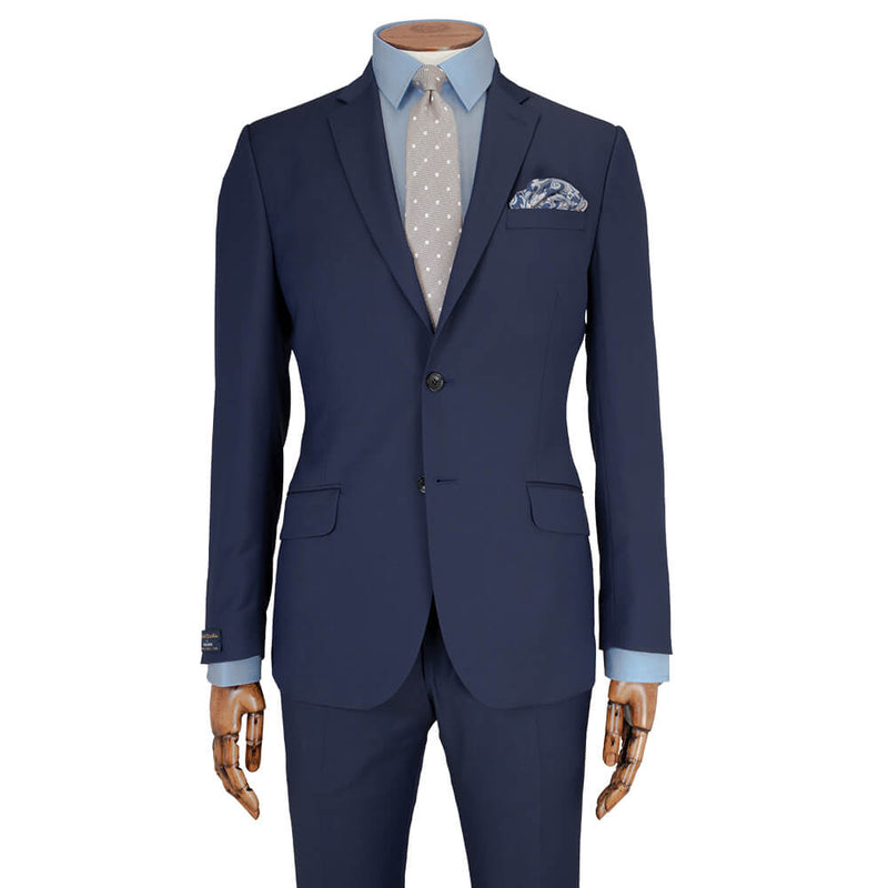 Di Fabio Cloth Royal Blue Diamond Weave Suit - Gagliardi