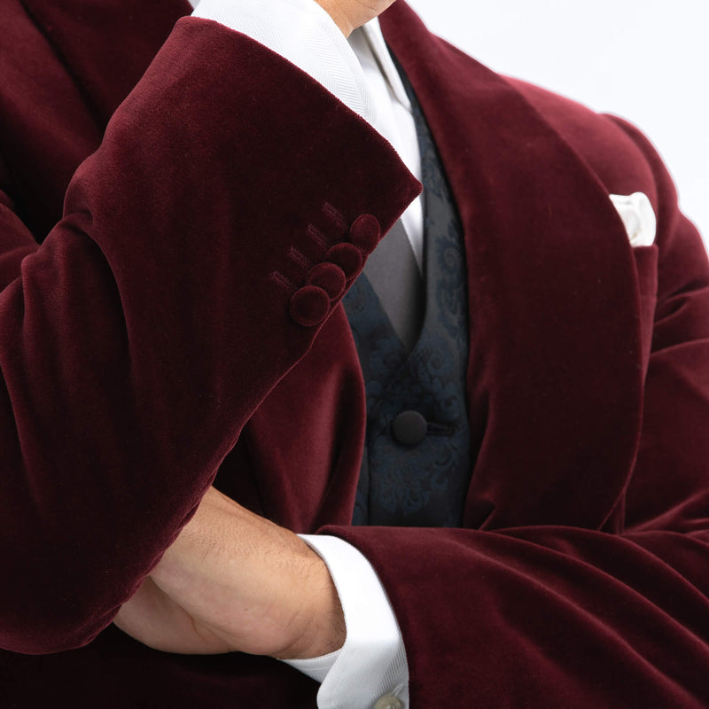 Bordeaux Velvet Jacket