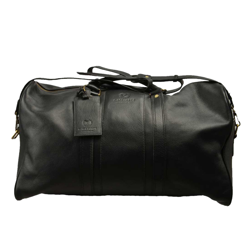 Black Leather Travel Bag