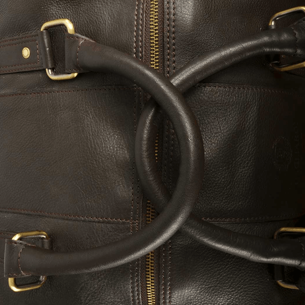 Dark Brown Leather Travel Bag - Gagliardi