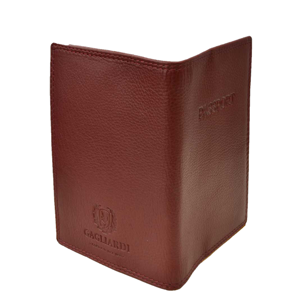 Claret Leather Passport Holder - Gagliardi