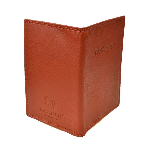 Copper Leather Passport Holder - Gagliardi