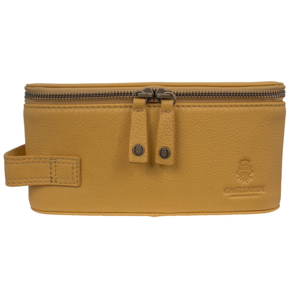 Ochre Yellow Washbag - Gagliardi