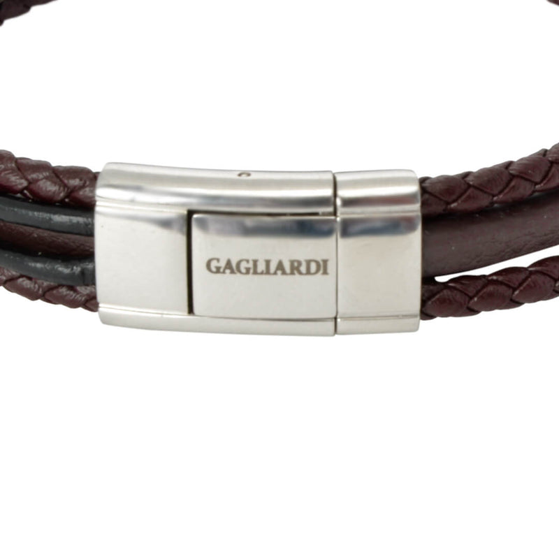 Brown Anchor Leather Bracelet - Gagliardi