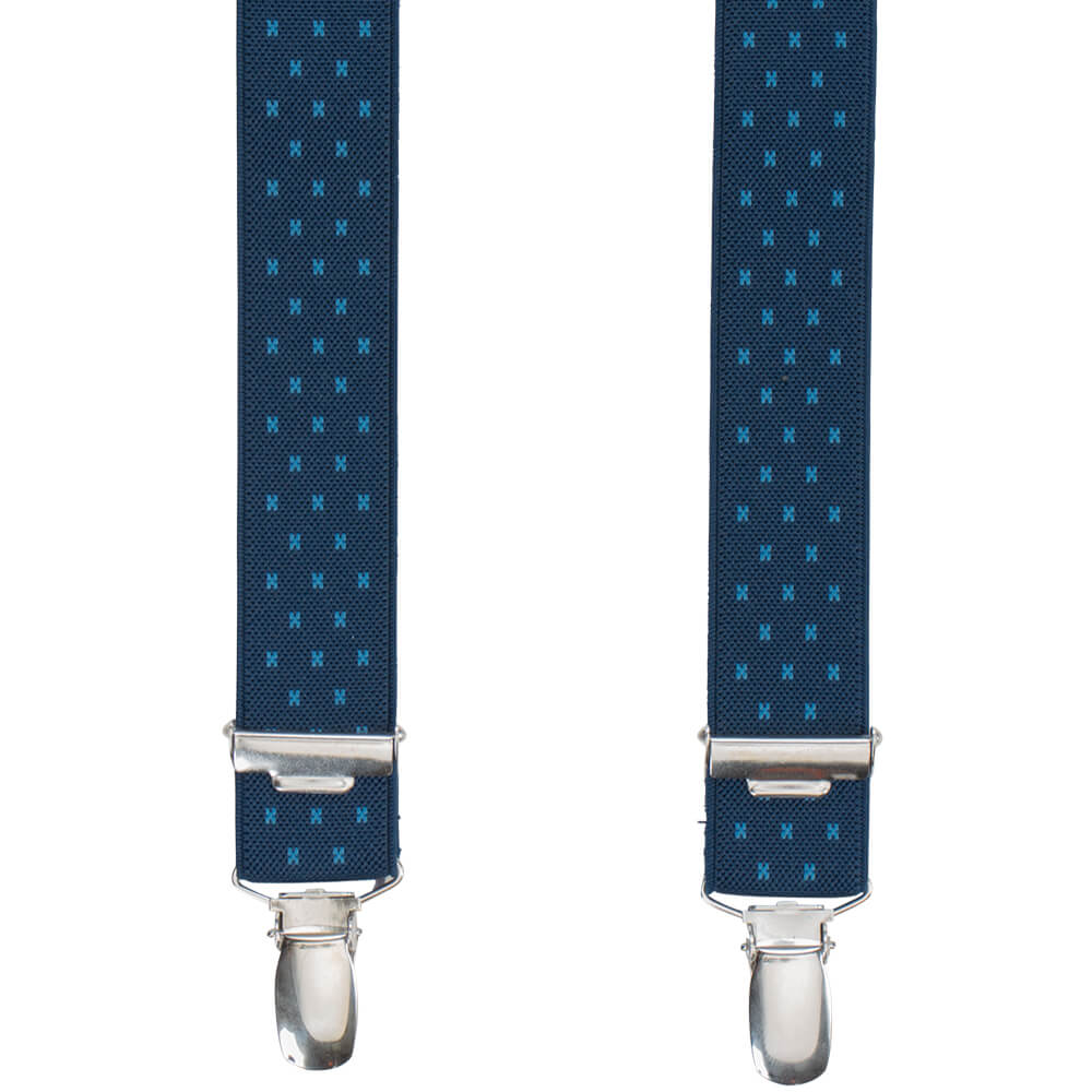 Navy Striped & Dotted Braces