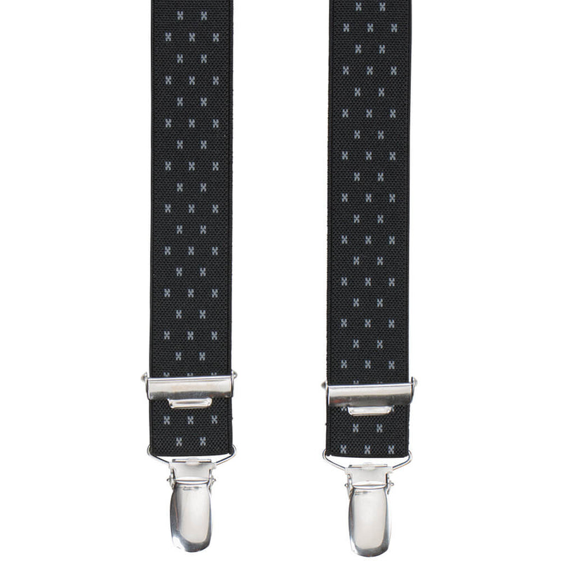 Black With Pin Dots Braces