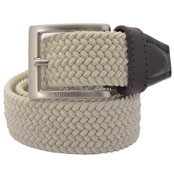 Beige Webbed Belt