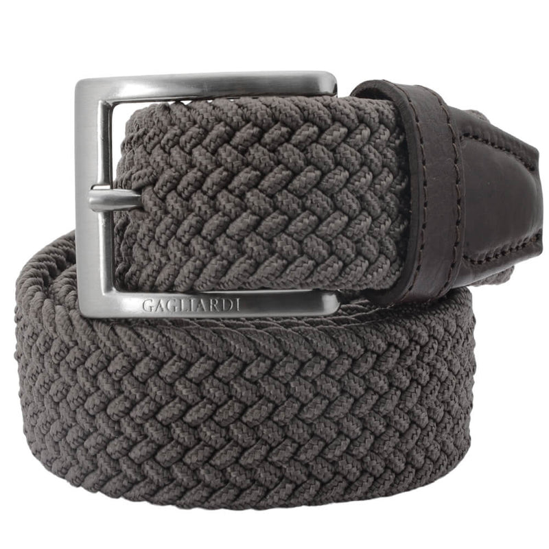 Brown Webbed Belt - Gagliardi