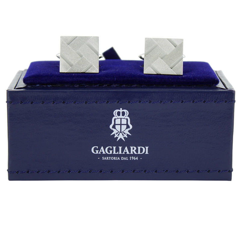Cross Hatch Design Cufflinks - Gagliardi
