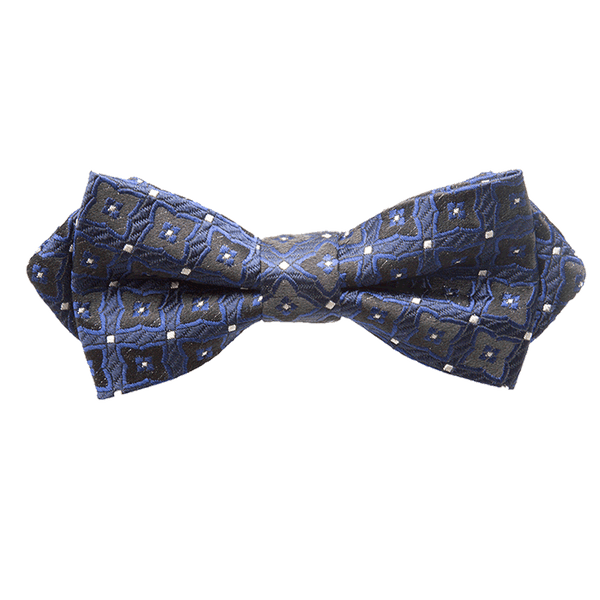 Royal Blue & Black Quilted Bow Tie - Gagliardi