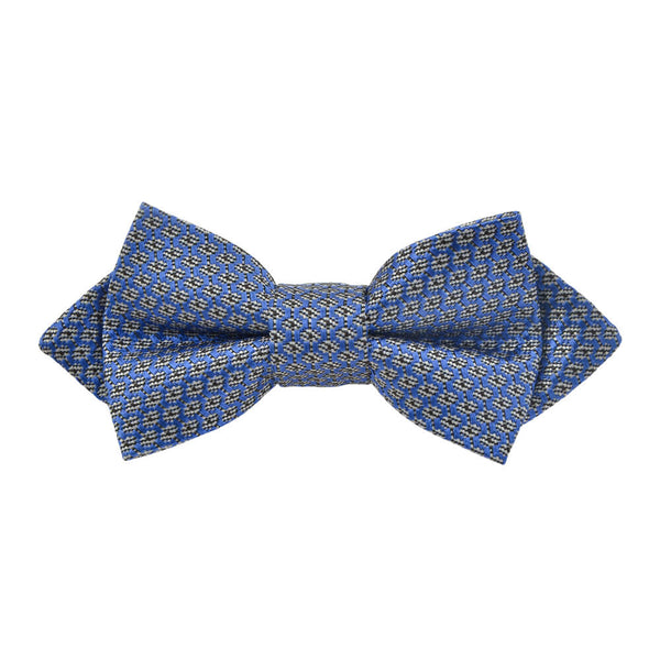 Royal Blue W/Black & White Geometric Design Bow Tie