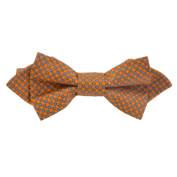 With Orange Circles Bow Tie