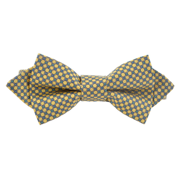 With Yellow Circles Bow Tie - Gagliardi