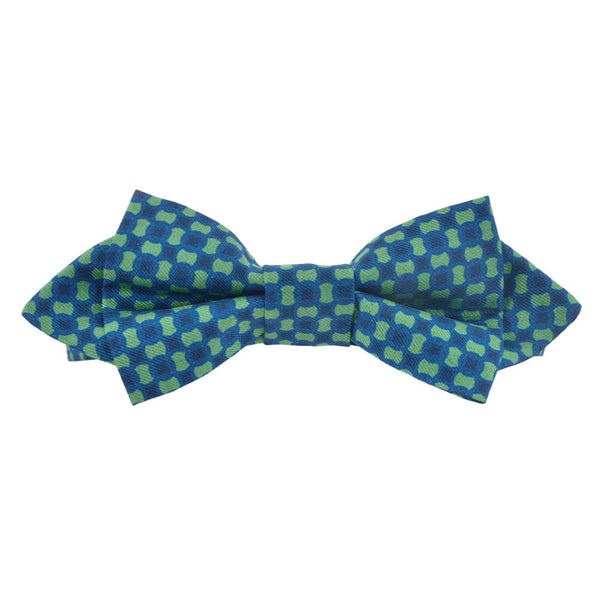 Blue With Green Flower Bow Tie