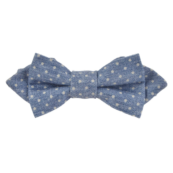 Light Blue With White Dots Bow Tie