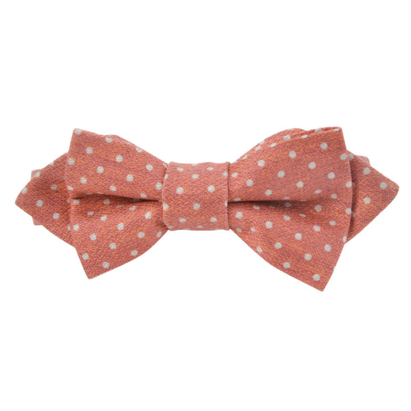 Orange With White Dots Bow Tie - Gagliardi